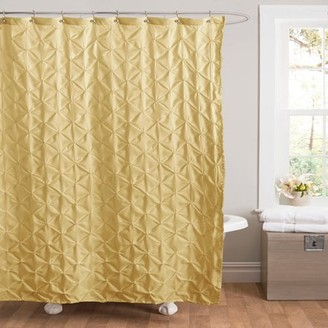 Lush Decor Essential Living Lake Como Yellow Shower Curtain