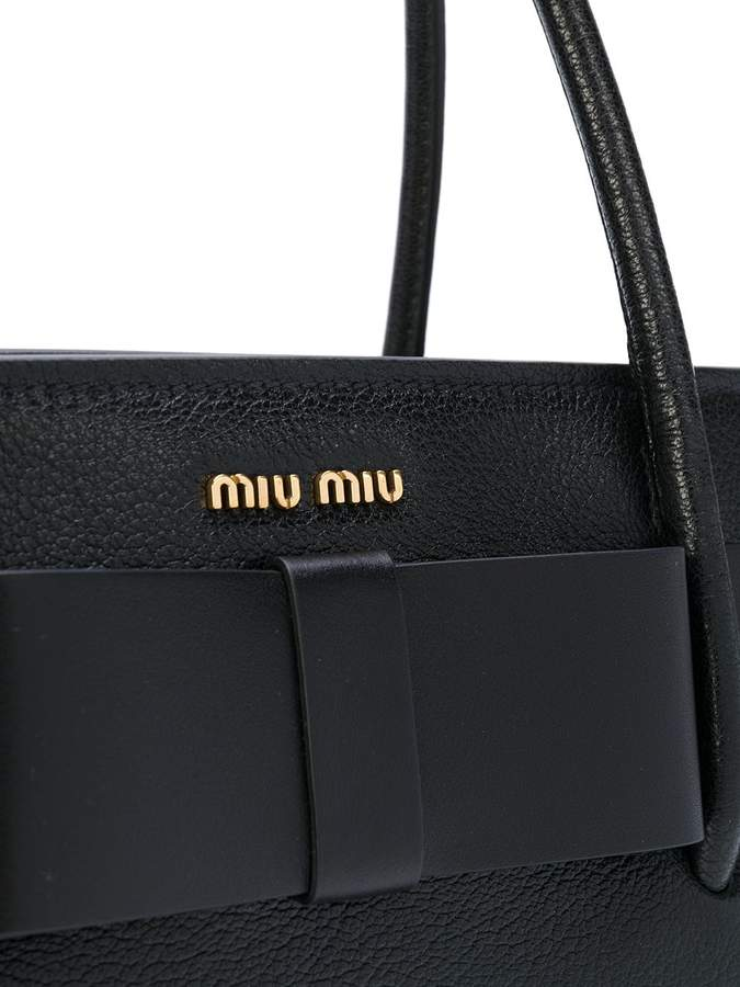 Miu Miu logo plaque tote bag