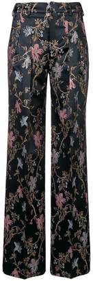 Pt01 embroidered flared trousers