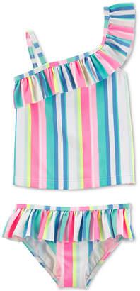 Carter's Carter Baby Girls 2-Pc. Striped Ruffle Swimsuit