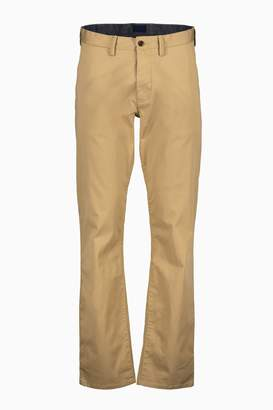Next Mens GANT Dark Khaki Regular Fit Twill Chino