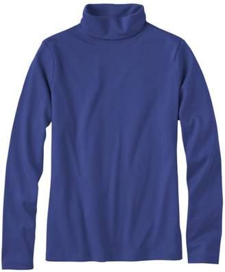 L.L. Bean L.L.Bean Pima Cotton Turtleneck, Long-Sleeve