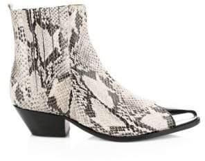 Schutz Luccyen Leather Western Boots