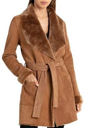 Bagatelle Lamb Shearling Wrap Coat