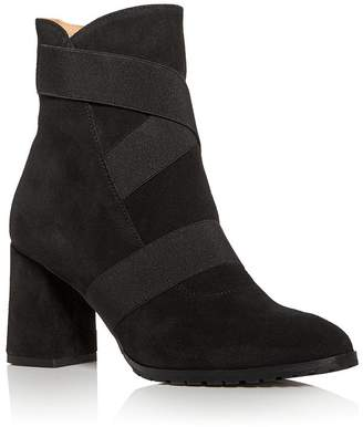 Andre Assous Women's Porter Strappy Pointed-Toe Block-Heel Booties