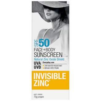 Invisible Zinc Face & Body SPF 50 75 g