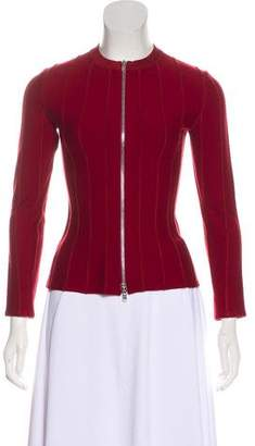 Alaia Wool Zip-Up Jacket