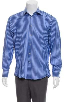 Valentino French Cuff Striped Shirt