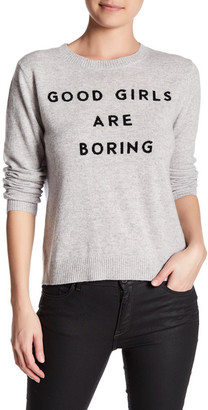 MILLY Good Girls Cashmere Sweater $350 thestylecure.com