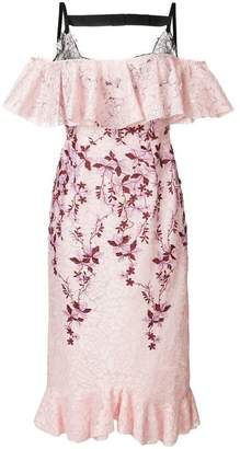 Giambattista Valli cold-shoulder lace dress