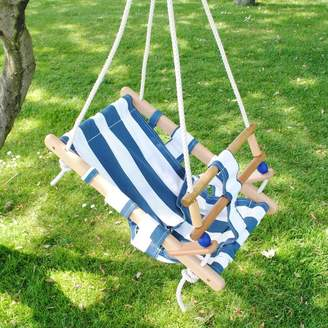 Harmony at Home Children's Eco Boutique Wooden Nautical Baby Swing