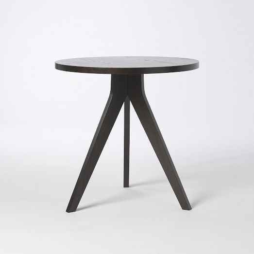 west elm Tripod Table - Chocolate
