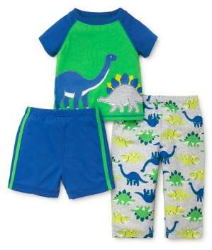 Little Me Little Boy's Three-Piece Dinosaur Pajama Top, Shorts and Pants Set