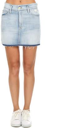 Frame Le Mini Frayed Waist Skirt