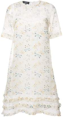 Rochas dragonfly-print shift dress