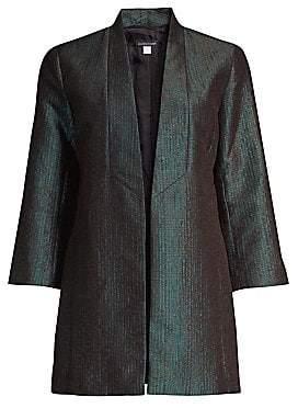 Eileen Fisher Women's Metallic Jacquard Shawl Collar Jacket