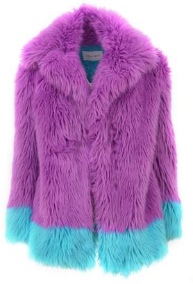 Alberta Ferretti Purple/blue Ecofur Coat