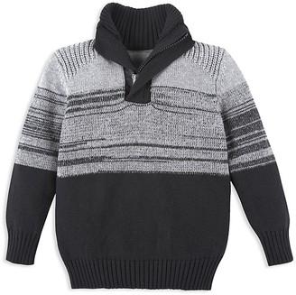 Andy & Evan Boys' Mélange Quarter Zip Sweater - Little Kid, Big Kid $49 thestylecure.com