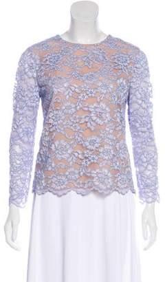 Diane von Furstenberg Lace Long Sleeve Top