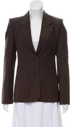 Saint Laurent Pinstripe Wool Blazer