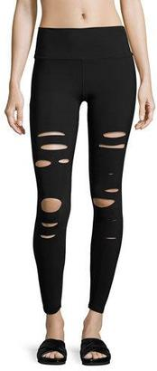 Alo Yoga Ripped Warrior Performance Leggings, Black $125 thestylecure.com