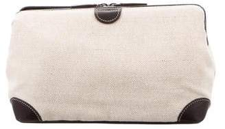 Bamford Leather-Trimmed Canvas Toiletry Bag