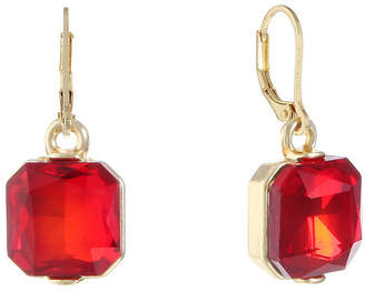 MONET JEWELRY Monet Jewelry Red Drop Earrings