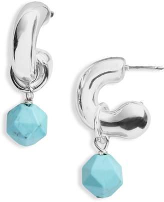 Simon Sebbag Convertible Hoop Earrings with Removable Drops