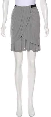 Alexander Wang Layered Mini Skirt Grey Layered Mini Skirt