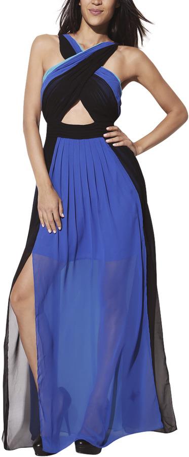 Arden B Colorblock Maxi Dress
