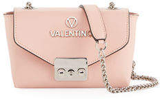 Mario Valentino Valentino By Lola Dollar Leather Chain Shoulder Bag - Silvertone Hardware