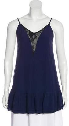 Lovers + Friends Lace-Trimmed Mini Dress