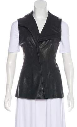 Todd Lynn Leather Collar Vest