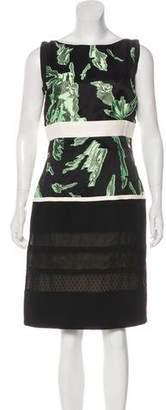 J. Mendel Silk-Blend Knee-Length Dress