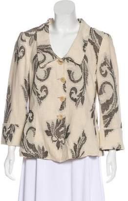 Armani Collezioni Embroidered Button-Up Jacket