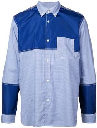 Junya Watanabe contrasting panelled shirt