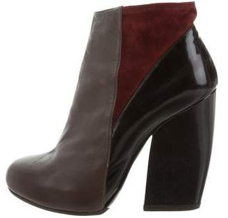 Pierre Hardy Leather Platform Booties
