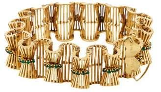 14K Retro Ribbon Bracelet