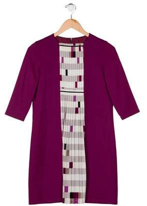 Fendi Girls' Crew Neck Dress
