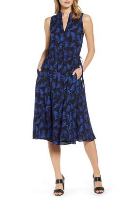 Anne Klein Delphine Split Neck Georgette Dress