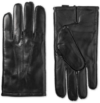 Isotoner Men Leather Driving Gloves