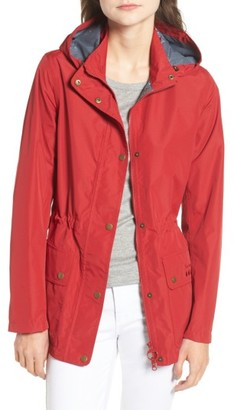 Women's Barbour Cirruss Waterproof Hooded Jacket $249 thestylecure.com