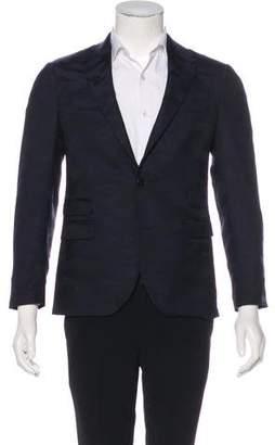 Neil Barrett Camo Wool Slim Blazer