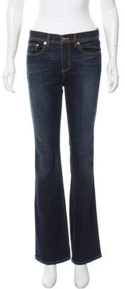 Tory Burch Mid-Rise Boot Cut Jeans