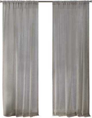 Home Outfitters Hemstitch Sheer Embellished Rod Pocket Top Curtain Panels