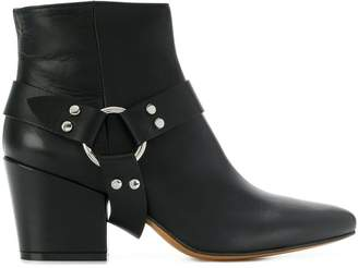 Buttero adjustable strap ankle boots