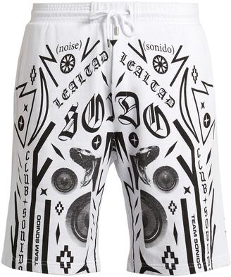 MARCELO BURLON Rico multi-motif printed cotton shorts $188 thestylecure.com