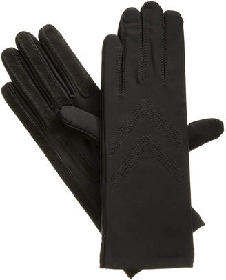Isotoner Womens Spandex Three-Button Length Chevron Gloves