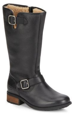 Chancery Sheepskin & Leather Boots $295 thestylecure.com