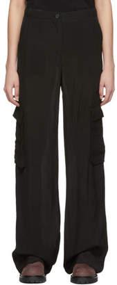 Yang Li Black Cargo Trousers